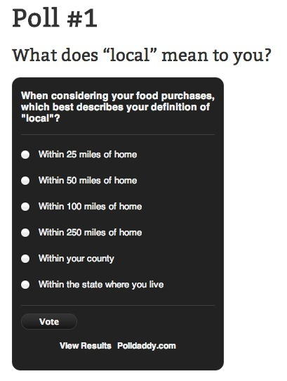 Take a TLD Poll | Local Food Systems | Scoop.it