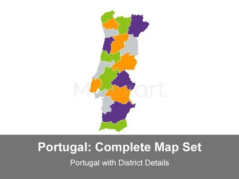 Portugal with District Map - Editable Keynote iWorks | Portugal | Scoop.it