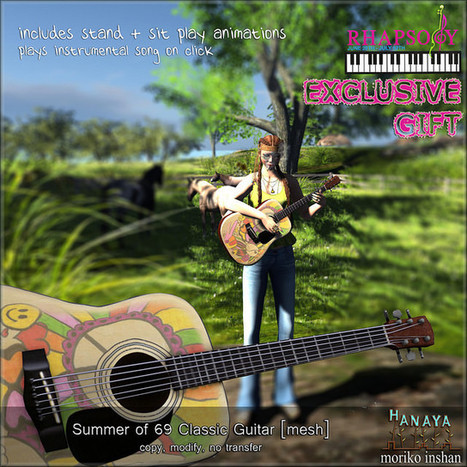 Rhapsody GIFT -Hanaya- Summer of 69 Guitar | Freebies and cheapies in second life. | Scoop.it
