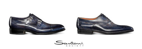 Luxury handmade shoes for Man: Santoni Blue | Le Marche & Fashion | Scoop.it