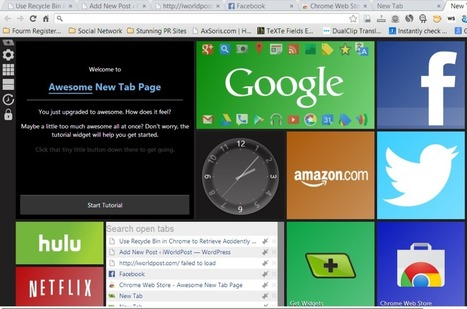 "The Amazing ""New Tab Page"" for Google Chrome 