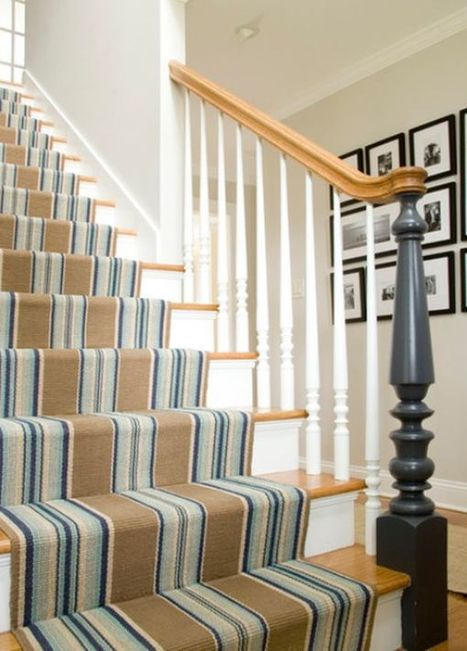Decorate your stairway with a striped carpet | Designing Interiors | Scoop.it