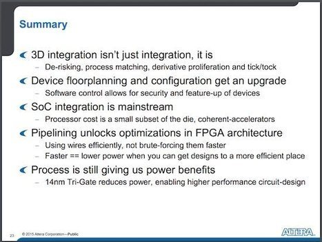 Video: Altera's Stratix 10 - 14nm FPGA Targeting 1GHz Performance - insideHPC | opencl, opengl, webcl, webgl | Scoop.it