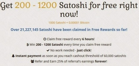 Daily faucet Get 200 - 1200 Satoshi for free ~ Earn free Bitcoins quickly | Earn free Bitcoins Euros and Dollars | Scoop.it