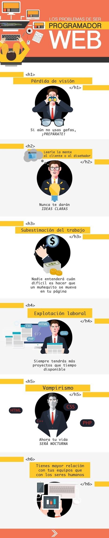 Los problemas de ser programador web #infografia #infographic | Educación con tecnología | Scoop.it
