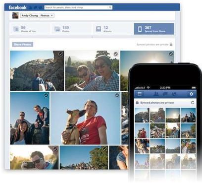 Le téléversement automatique des photos arrive chez Facebook | Geeks | Scoop.it
