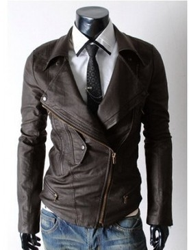 Brown Colored and Gorgeous Styled Leather Jacket for Men | Shopping | Scoop.it