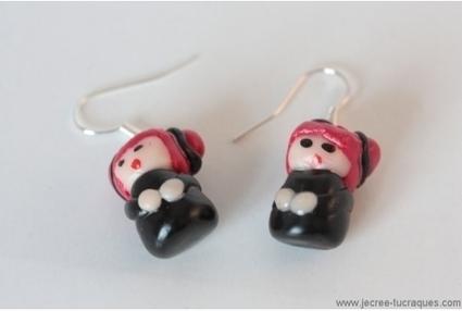 Boucles d'oreilles poupées en pâte Fimo - Je crée tu craques | Mes créations de bijoux fantaisie et autres | Scoop.it