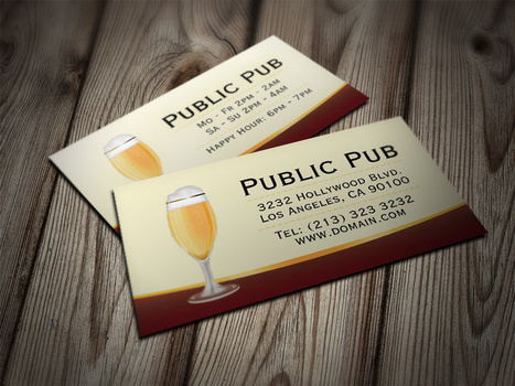 Beer Bar and Pub Business Card | IMC | Scoop.it