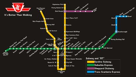 Parody maps rename Toronto's neighbourhoods, TTC stations   AP Human Geography   Scoop.it