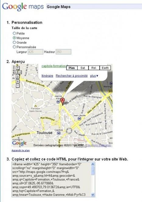 Comment insérer une carte Google Maps sur votre blog | Ballajack | Outils et  innovations pour mieux trouver, gérer et diffuser l'information | Scoop.it