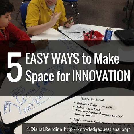 5 Easy Ways to Make Space for Innovation | Knowledge Quest @DianaLRendina | Maker Movement in the Elementary Classroom | Scoop.it