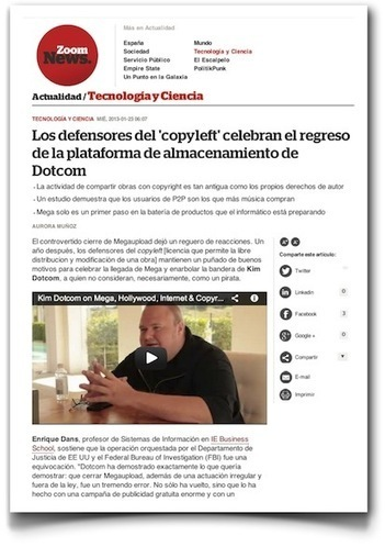 Hablando sobre Mega , Kim Dotcom y  otros temas | VI Tech Review (VITR) | Scoop.it