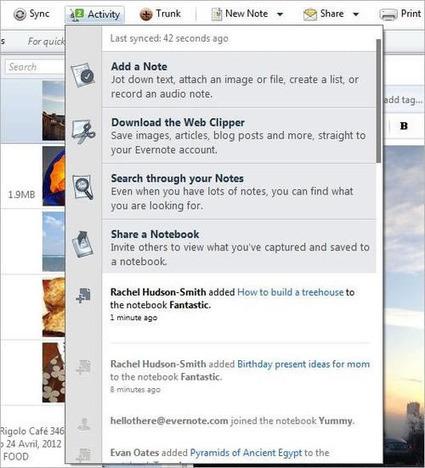 Une nouvelle version d'Evernote pour Windows, avec flux d'activité | François MAGNAN  Formateur Consultant | Scoop.it