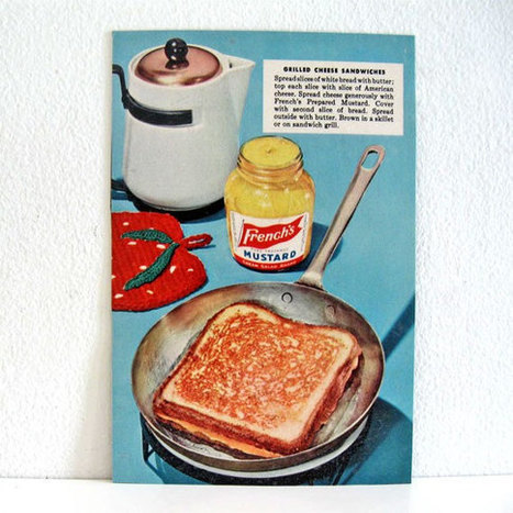 Magnet Vintage Food Advertisement French Mustard Cheese par ismoyo | advertising-v | Scoop.it