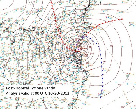 Four years ago today... on Oct 29, 2012... Sandy... - NOAA NWS Weather Prediction Center | Disaster Response | Scoop.it