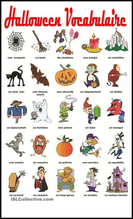 Vocabulaire Halloween | FLE enfants | Scoop.it