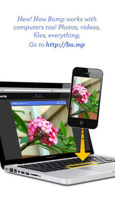 New Bump Update Lets You 'Bump' Files Between iDevices And Computers | Libraries, HigherEd on an iPad | Scoop.it