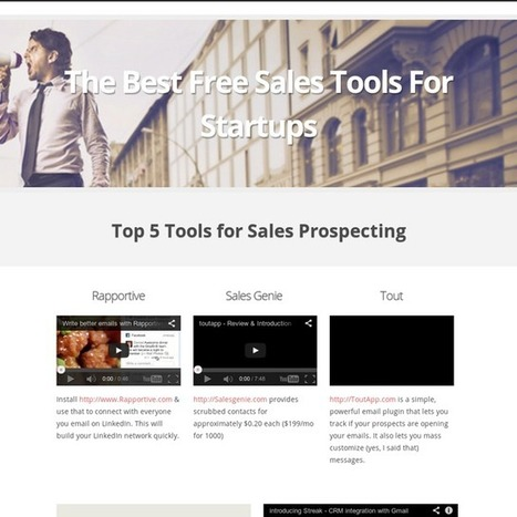 The Best Free Sales Tools For Startups | Engage More in Sales | Scoop.it