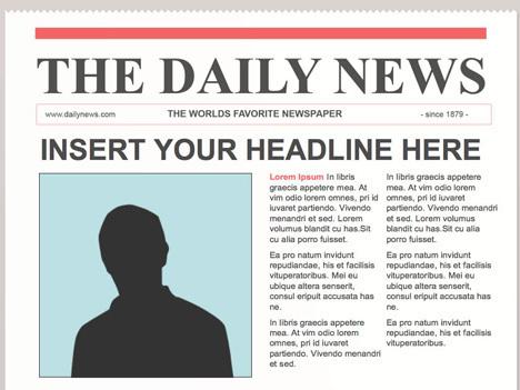 editable powerpoint newspapers creating newsp. Black Bedroom Furniture Sets. Home Design Ideas