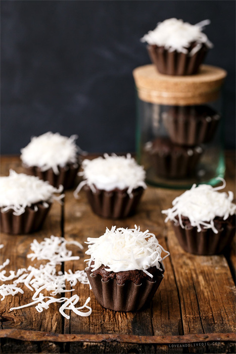 Vegan Chocolate Coconut Cupcakes | Love and Olive Oil | My Vegan recipes | Scoop.it