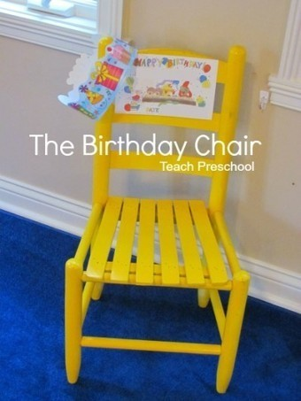10 ways to use a birthday chair in the preschool classroom | Learning and Teaching Literacy | Scoop.it