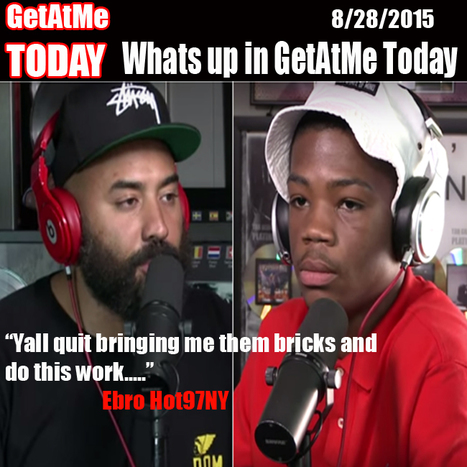 "GetAtMeToday Ebro ""Yall quit bringing me these bricks and do this work.... #FRFR 