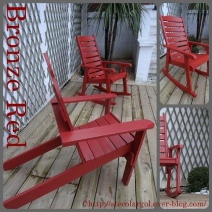 [Coup de ♥] Relooking d'un fauteuil à bascule de jardin par StefetsaBelette sur le #CDB | Best of coin des bricoleurs | Scoop.it