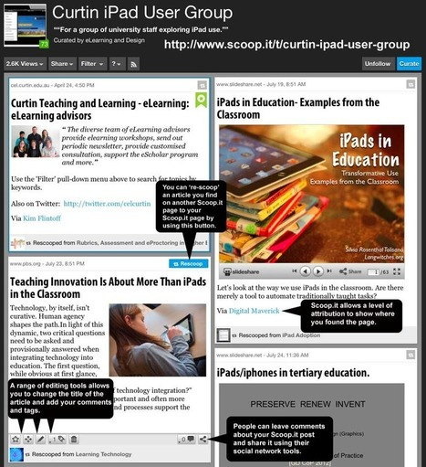 Centre for eLearning » Blog Archive » Issue 32 – Digital curation and Scoop.it | Curation in Higher Education | Scoop.it