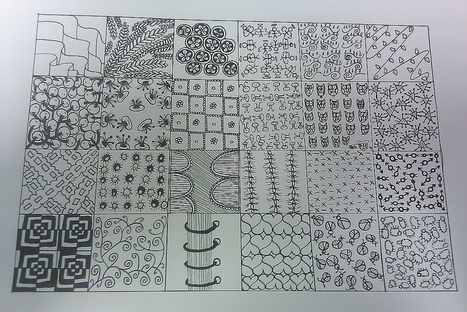 Zentangle sampler 2 | Artistic Line Designs-all free | Scoop.it