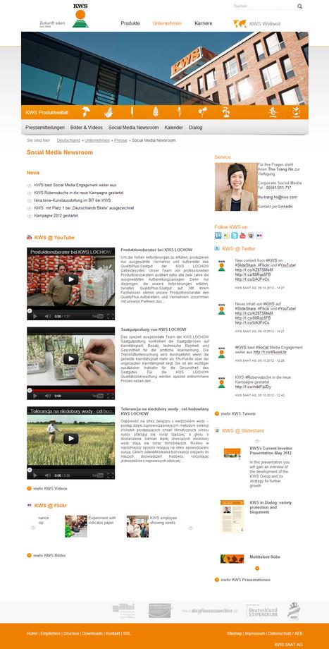 KWS SAAT AG - Social Media Newsroom   Social Media Newsrooms   Scoop.it