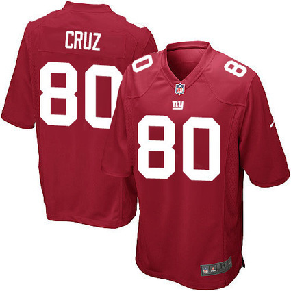 Cheap Official Red Game Victor Cruz #80 Mens Alternate Jersey From Nike NFL New York Giants Shop | Giants Jerseys | Scoop.it