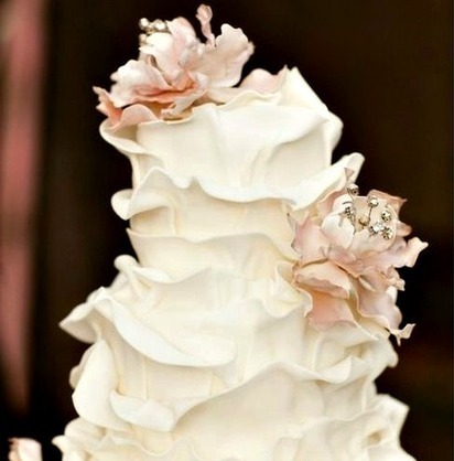 Wedding Cake of the Day: Ruffle Wedding Cakes - The Daily Meal | Naturally Beautiful Weddings | Scoop.it