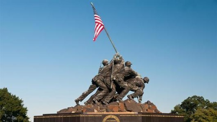 U.S. flag raised on Iwo Jima - Feb 23, 1945 - HISTORY.com | World War 2 Herald | Scoop.it