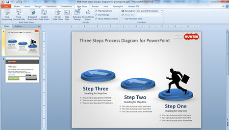 Free Three Steps Process for PowerPoint | Diagrams | Scoop.it