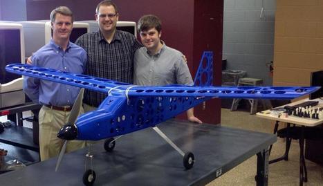Student engineers design, build, fly 'printed' airplane | KurzweilAI | DIY Manufacturing / 3d Printing | Scoop.it