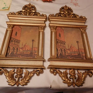 Vintage SYROCO Shirley Tatters Designed Venice Regency Dogs Palace San Marco Wall Plaques | Beautiful Vintage Find!! | Scoop.it