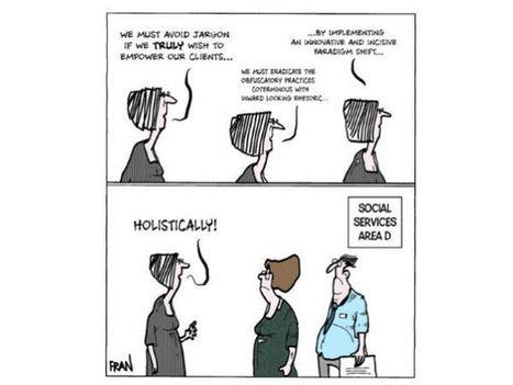 Social work cartoon: 'The jargon' | ABCD | Scoop.it