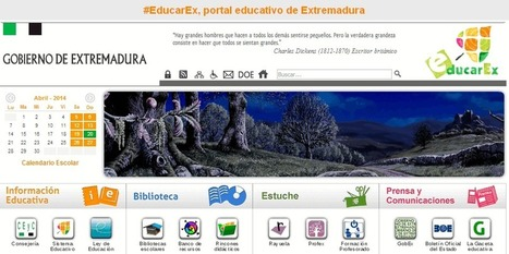 #EducarEx, portal educativo de Extremadura | ProfesorOnline | Profesoronline | Scoop.it