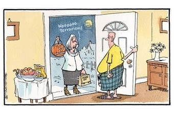 Steve Camley's cartoon: when Theresa May came visiting | Referendum 2014 | Scoop.it