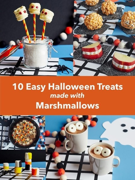 10 Easy Ways to Turn Marshmallows Into Halloween Treats — 10 Tiny Recipes | ♨ Family & Food ♨ | Scoop.it