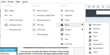 Google Sites Integrations | E-Learning and Online Teaching | Scoop.it