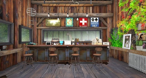 Eddi and Ryce Photograph Second Life: Great Second Life Destinations: The Amazing Detail at Small Town Cafe | SL Bits & Pieces | Scoop.it