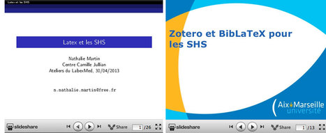Zotero et BibLaTeX pour les SHS | Zotero | Scoop.it