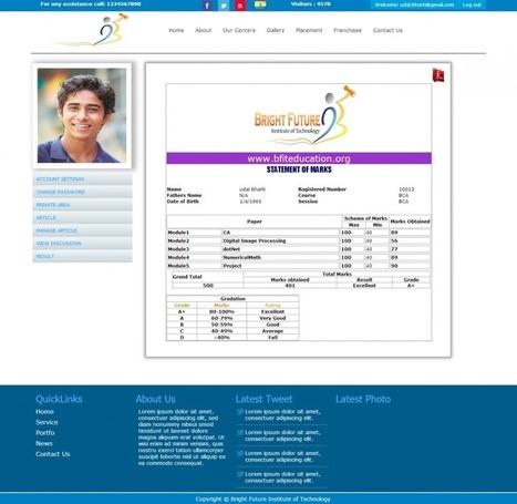 Web Based School Management system | Asp.Net Live project Training in Kolkata | Scoop.it