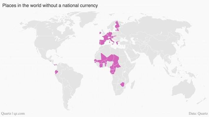 Here are all the countries that don't have a currency of their own - Quartz | money money money | Scoop.it