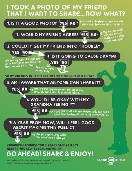 Digital Citizenship Poster > Is this okay to share on social media? | The Information Professional | Scoop.it