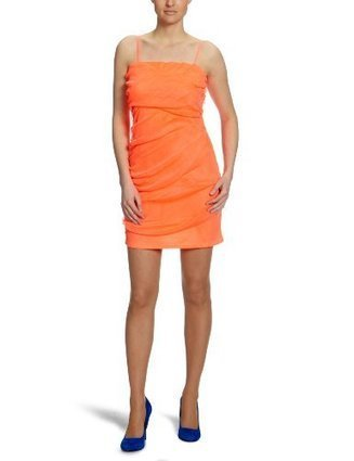 ***   VILA CLOTHES Damen Kleid (knielang), 14010589 Charmi Dress, Gr. 38 (M), Pink (FIERY CORAL) | Abendmode Online Shop | Scoop.it
