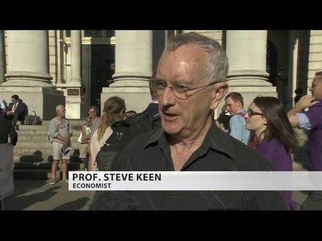 "Positive Money Campaign Launch - ""QE isn't working"" Outside Bank of England 