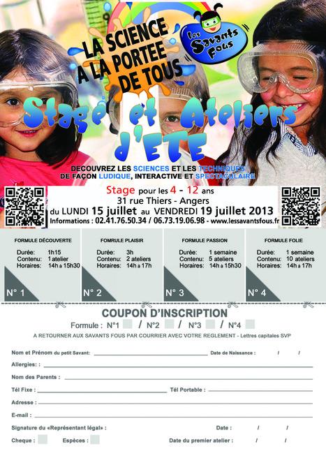 Programme des ateliers de la semaine du 15 au 19/7 à Angers | Les Savants Fous | Les Savants Fous | Scoop.it